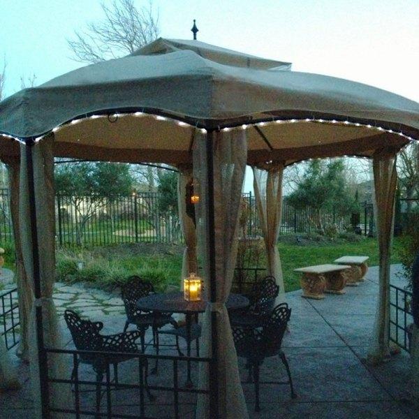 Solar Rope Light Kit Gazebo Garden Winds