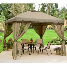 10 X Portable Gazebo Replacement Canopy And Netting