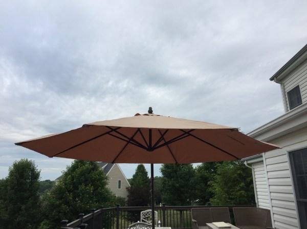 Yjaf-013t Garden Oasis 11.5 Ft Steel Offset Cantilever Umbrella Winds