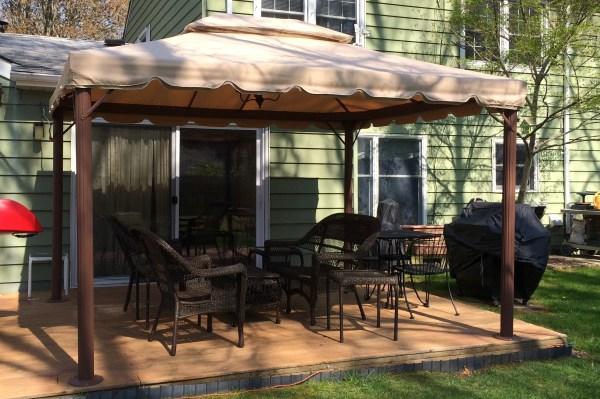 Bjs 10 X 12 Gazebo Canopy Replacement L-gz106pal-1 Garden Winds