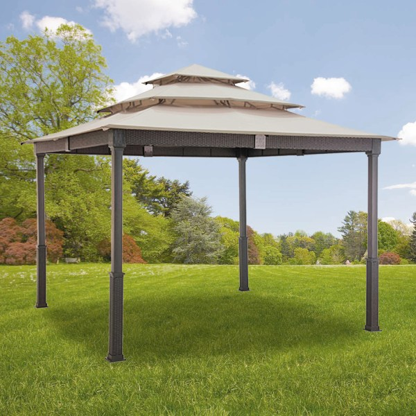 Replacement Canopy Triple 10x10 Wicker Gazebo - Riplock 350 Garden Winds Canada