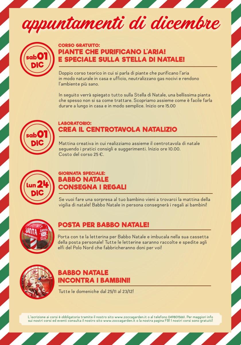 Calendario Eventi Dicembre