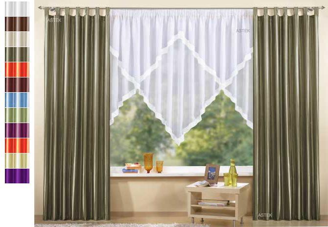 Gardinen Set 3 Teile Vorhang und Kuvertstore 145x300  eBay