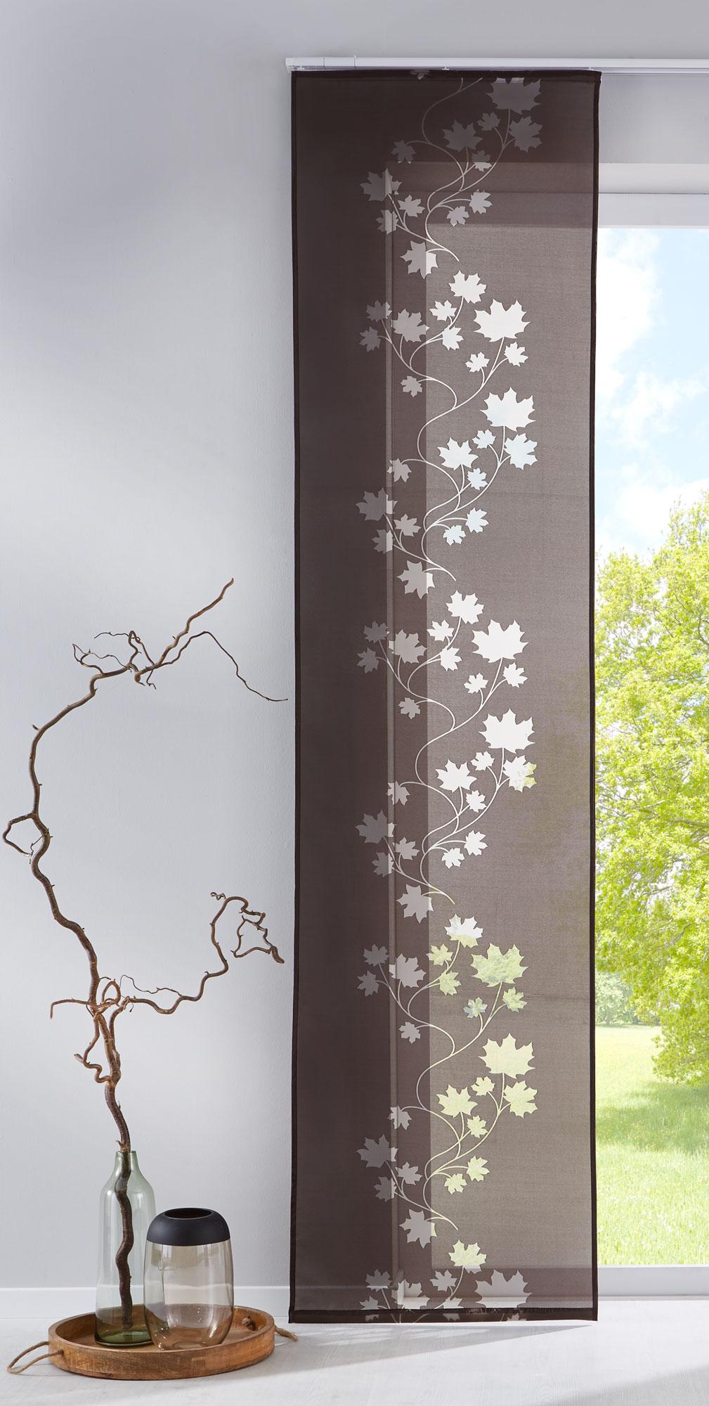 Flchenvorhang Schiebegardine mit Klettband Ausbrenner Stoff 856100  eBay