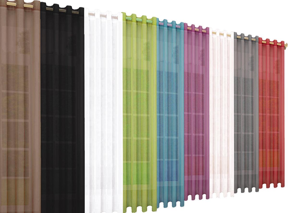 20332CN 2erPack Vorhang Transparent Gardinen Set Wohnzimmer Voile