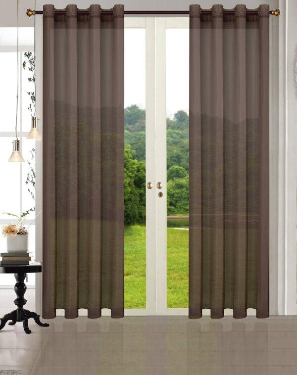 20332CN 2erPack Vorhang Transparent Gardinen Set