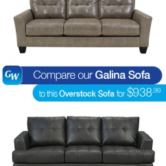 Overstock Sofa Large Plush Sectional Looks For Less Compare Our Galina Leather To This That S Why At Gardner White We Decided Do The Shopping You If Re Looking A Comfortable But