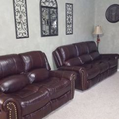 Microfiber Reclining Sofa With Drop Down Table Chesterfield Sofas Online Oldham Westland Leather