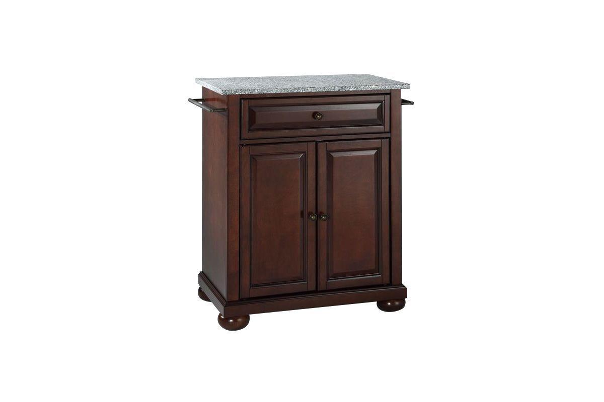 mahogany kitchen island cheap stuff alexandria solid granite top portable in