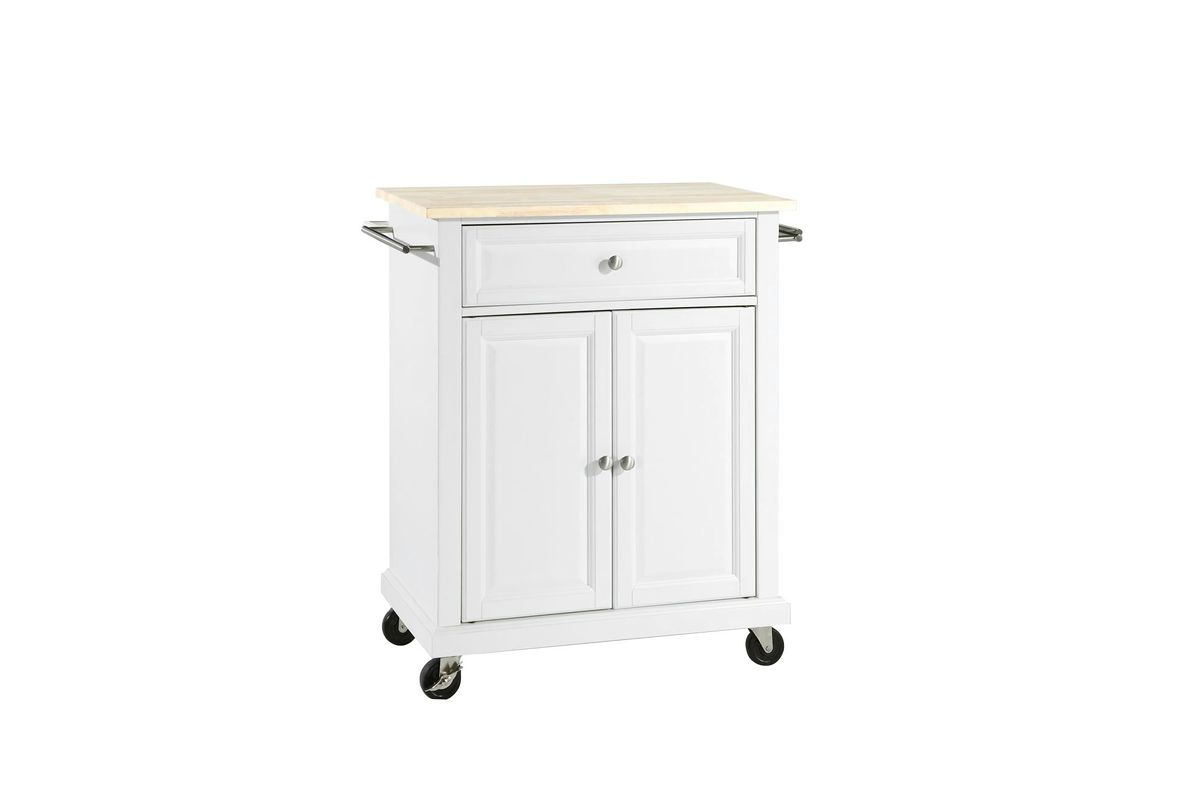 crosley kitchen cart outdoors natural wood top portable island in white by from gardner