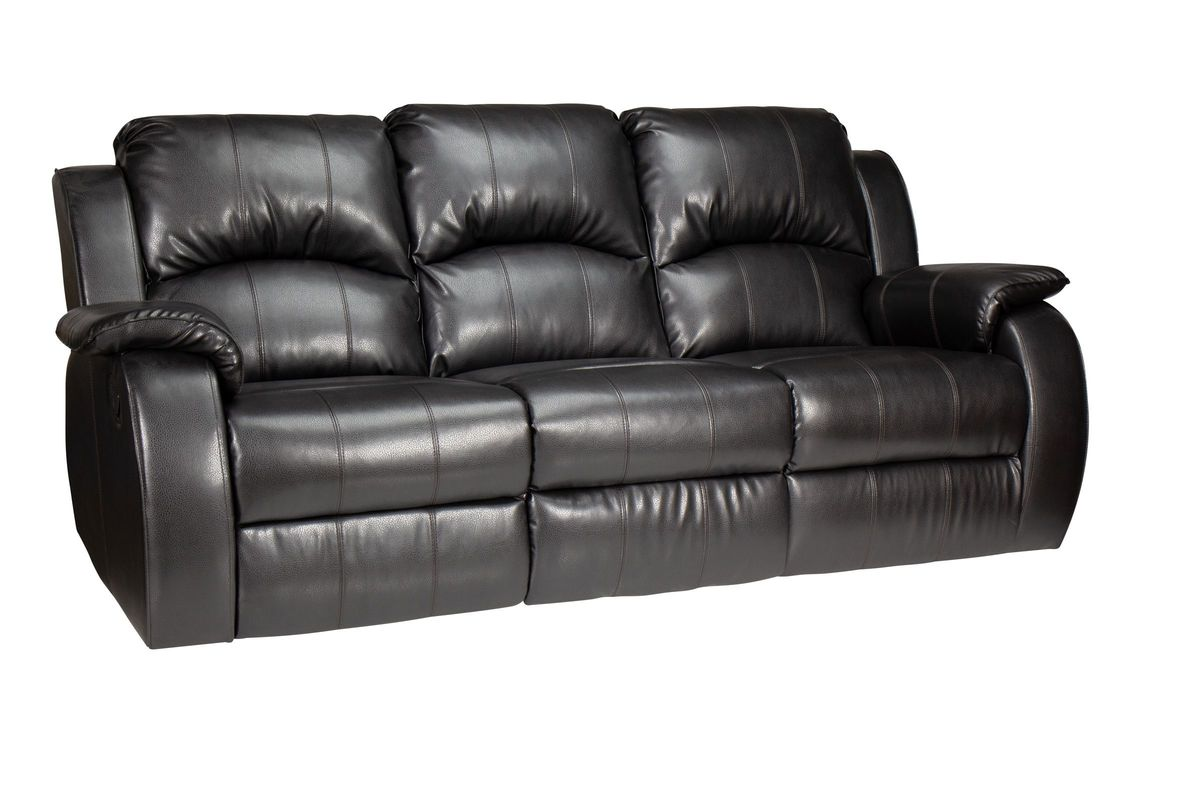 angus bonded leather reclining sofa decor to go with dark brown tahoe at gardner white