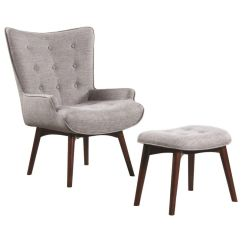 Gray Accent Chair With Ottoman Wedding Reception Covers And Sashes Scott Living Mid Century Modern Grey From Gardner White Furniture