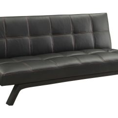 Contemporary Sofa Bed Franco Bonded Leather Sectional Black Convertible At Gardner White