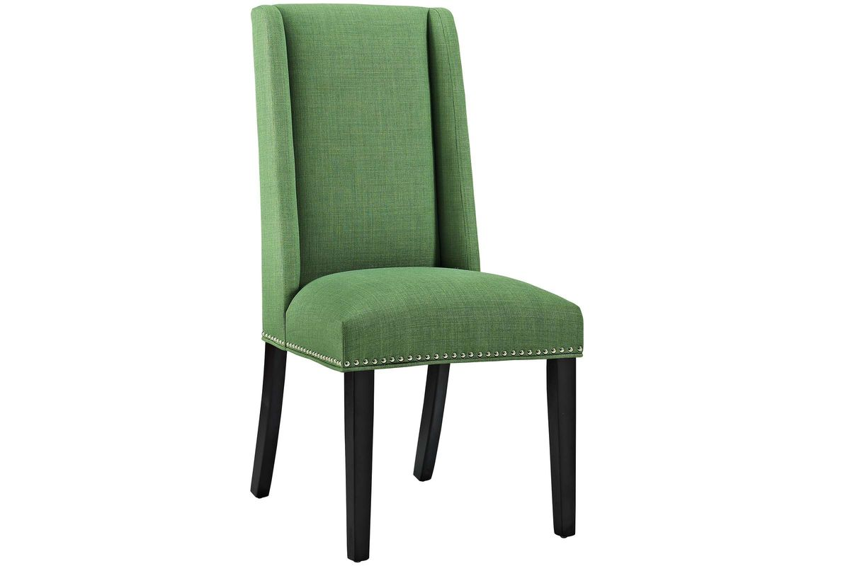 green upholstered dining chairs stackable baron chair in kelly by modway share