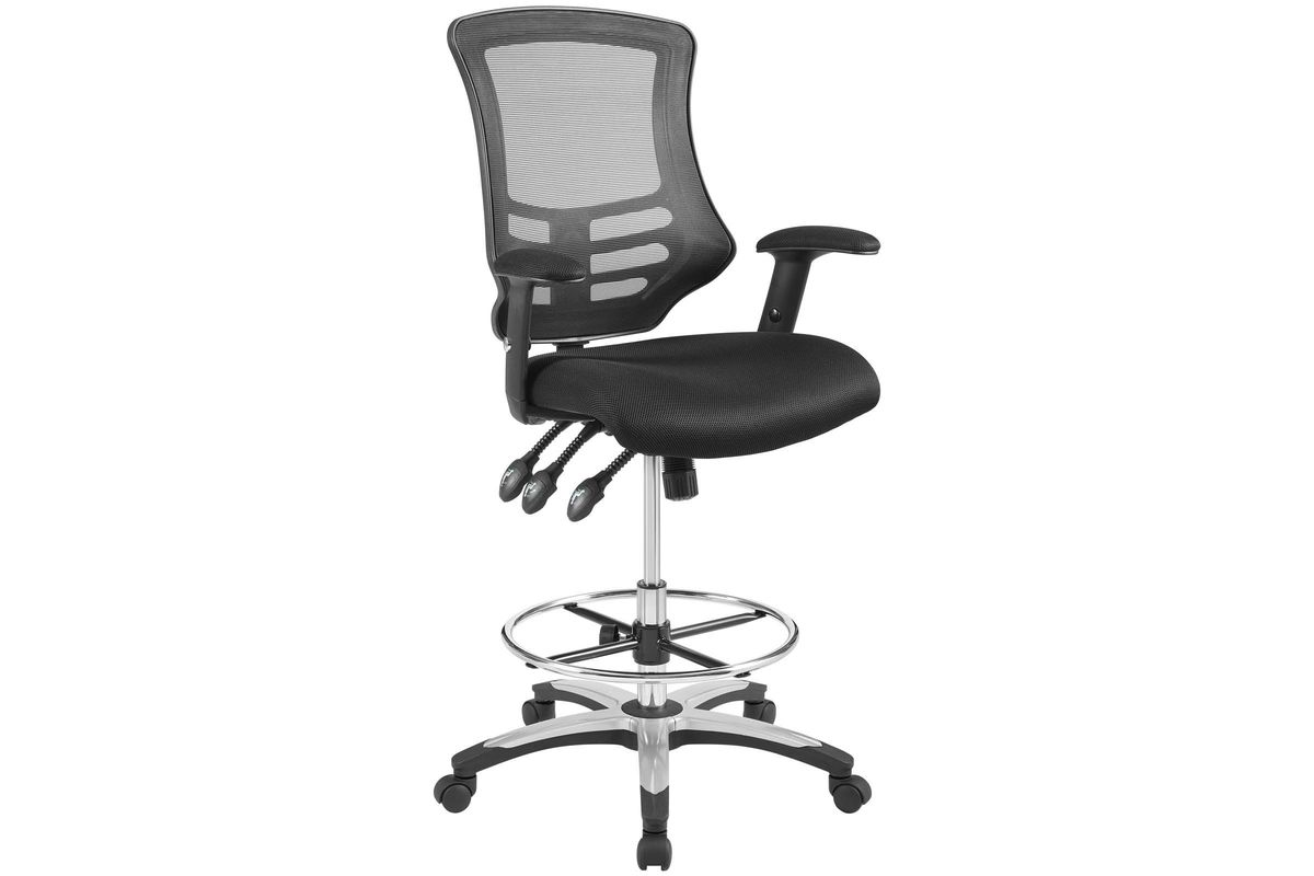 mesh drafting chair used recliner chairs calibrate at gardner white from furniture