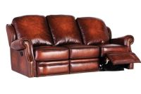 McKinney All Leather Reclining Sofa at Gardner-White