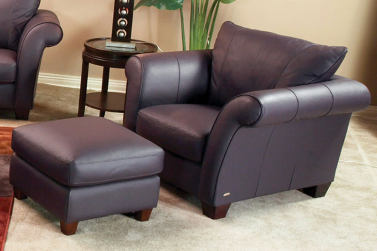 aubergine leather sofa no credit check corner portal chair do not use at gardner white