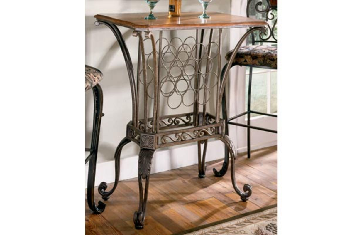 Pub Table With Wine Rack At Gardner White