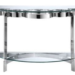 Vogue Chrome Sofa Table Cleaning Chicago Curvy And Glass At Gardner White