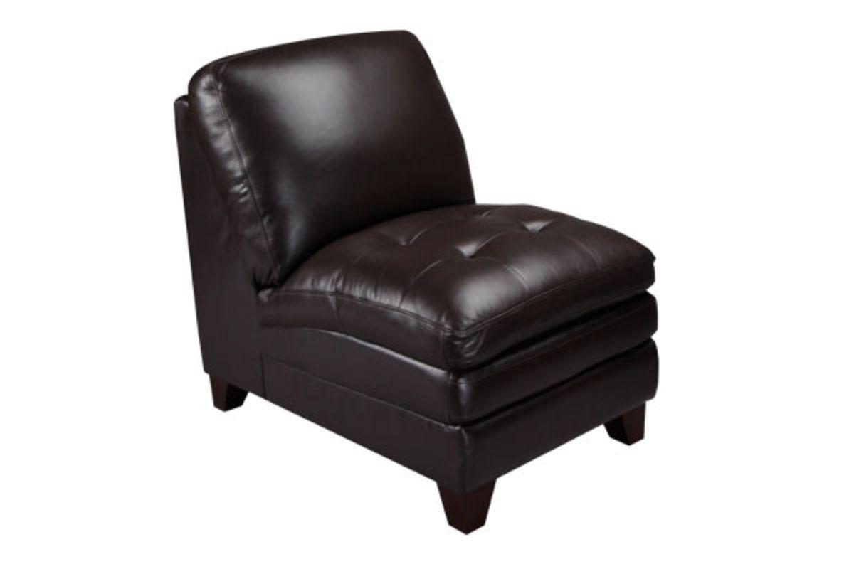 Amaretto Leather Armless Chair at GardnerWhite