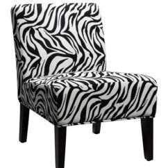 Zebra Dining Chairs Folding Rocking Lawn Chair Canada Print Slipper At Gardner White