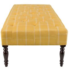 Tufted Yellow Chair Butterfly Cover Sewing Pattern Cocktail Ottoman At Gardner White