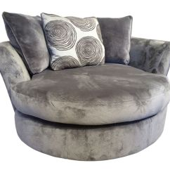 Swivel Pod Chair Leather Lounge Gaylord Microfiber At Gardner White