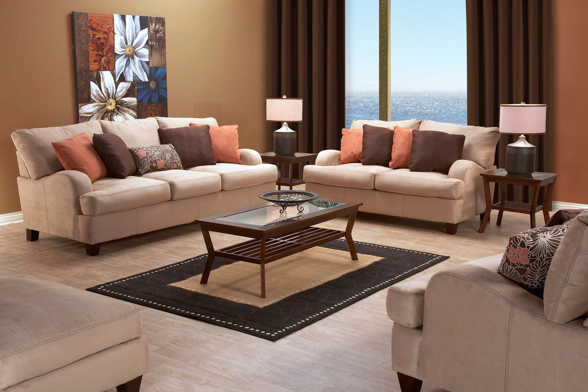gardner white living room sets design ideas brown leather sofa mia microfiber at