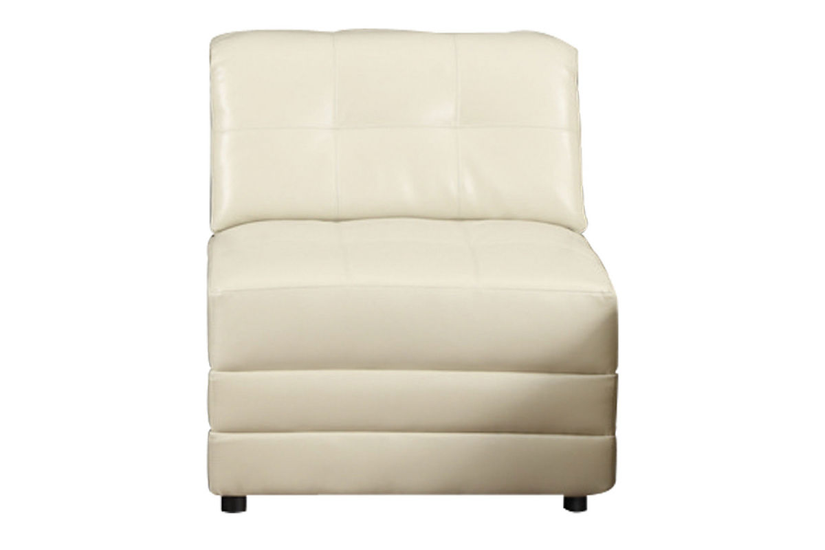 armless white leather sofa discount calisto bonded chair at gardner