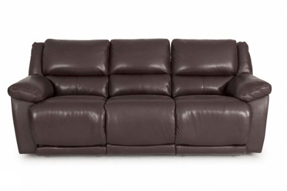 reclining sofa leather brown loveseat sleeper delray at gardner white