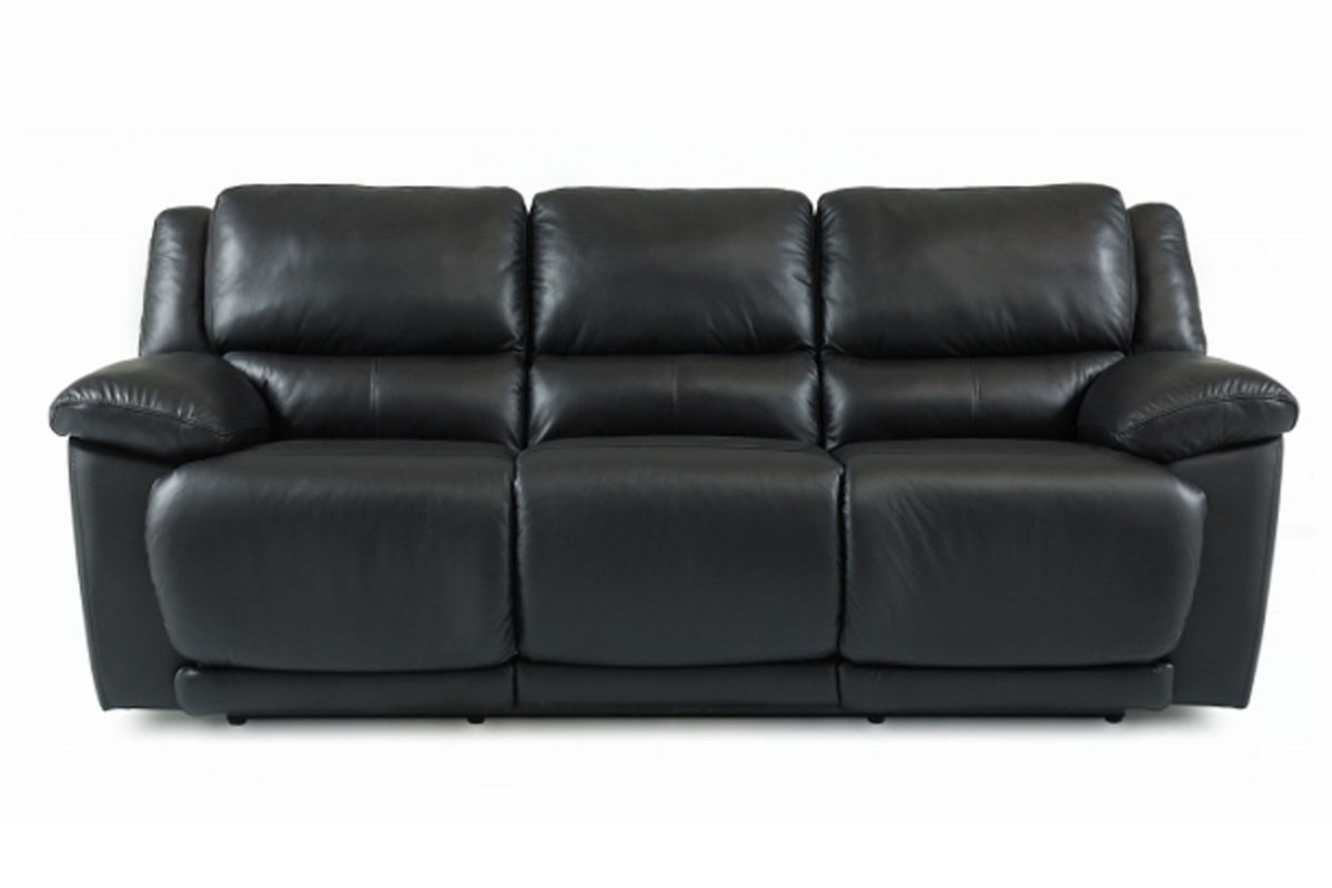 valencia black recliner leather sofa household product to clean delray reclining at gardner white