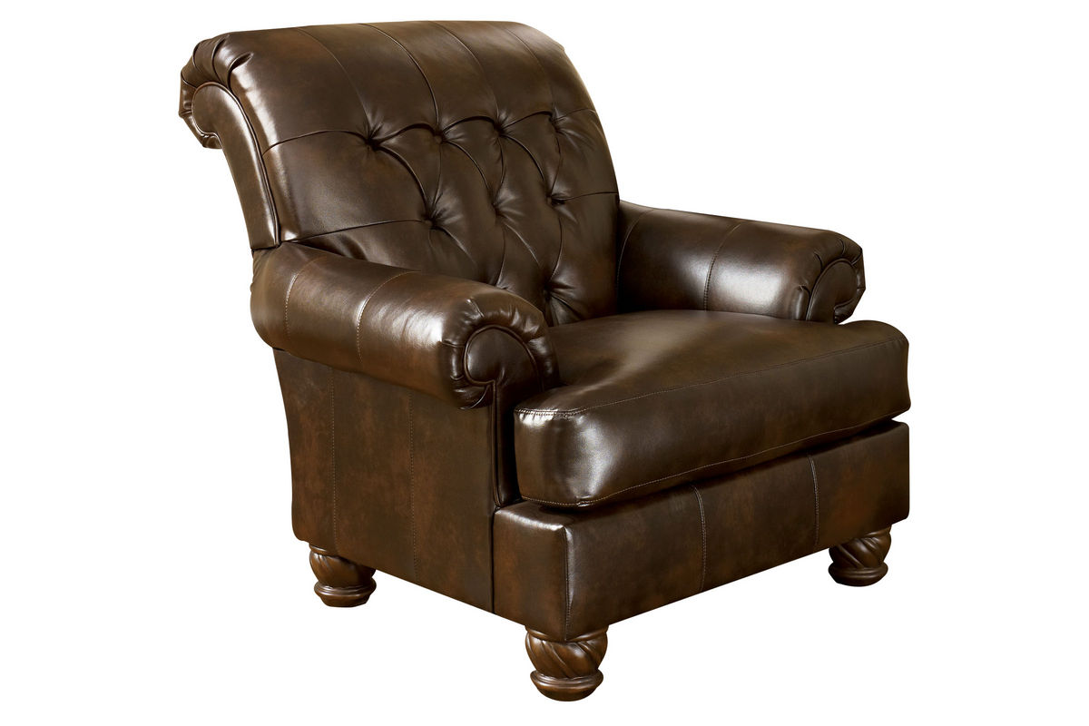 Fresco Bonded Leather Accent Chair at GardnerWhite
