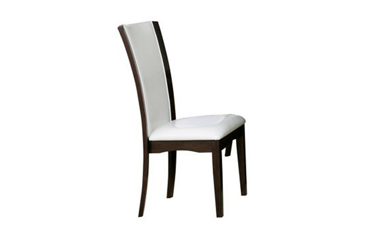 Jacob White Leather Side Chair at GardnerWhite