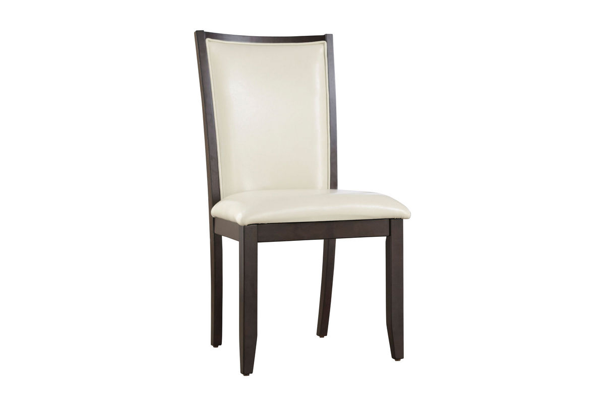 cream upholstered dining chairs white directors trish side chair at gardner