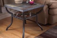 Slate & Iron Square End Table at Gardner-White