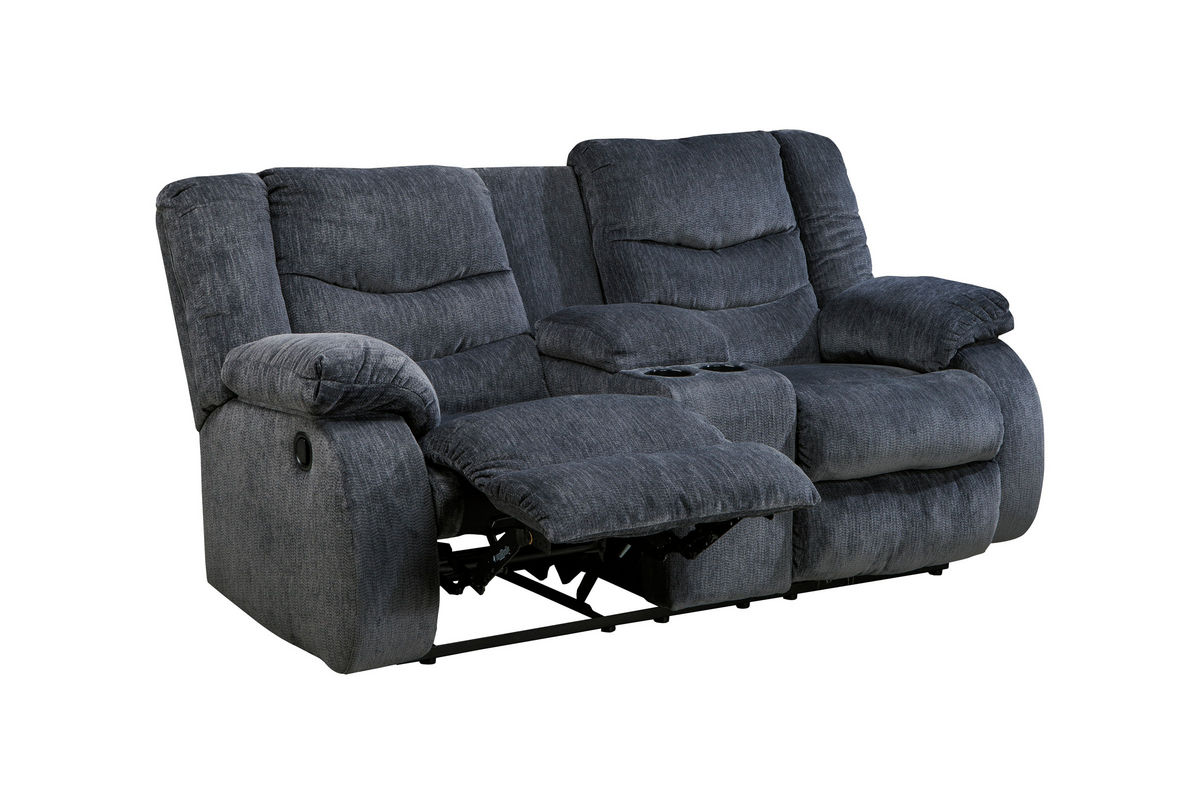 Garek Power Reclining Loveseat with Console at Gardner