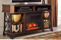 Vinasville Media Stand with Electric Fireplace at Gardner ...