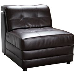 Armless White Leather Sofa Tan Room Ideas Bartek Bonded Sectional Chair At Gardner