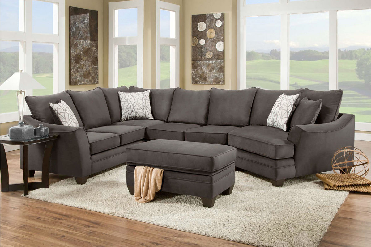 cosmo sofa mission style sleeper microfiber sectional at gardner white