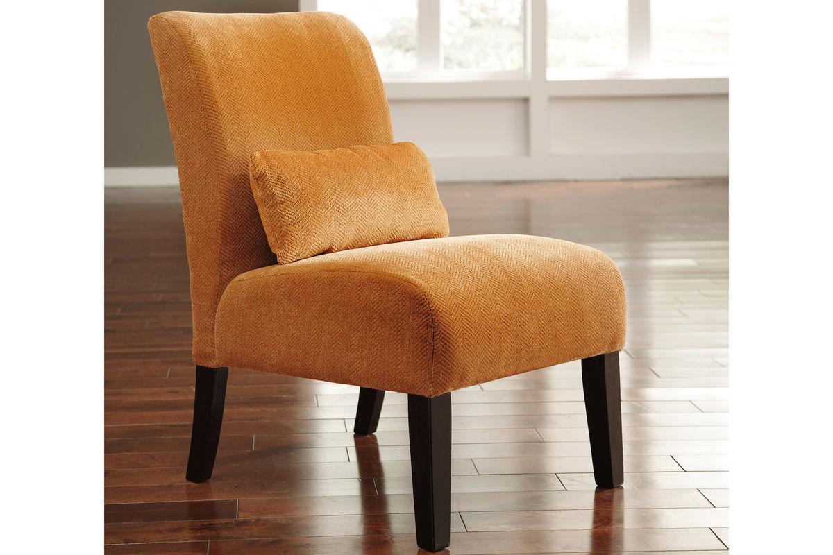 accent chair orange farmhouse cushions annora by ashley at gardner white