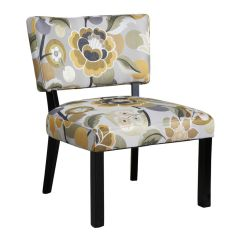 Gray And Yellow Accent Chair Covers For Sale In Ghana Floral Powell 383 631 At