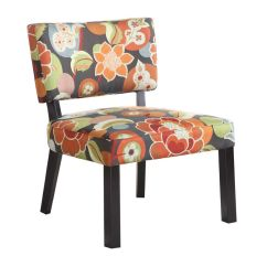 Bright Colored Accent Chairs Folding Chair Sale Floral Print Powell 383 936 At Gardner