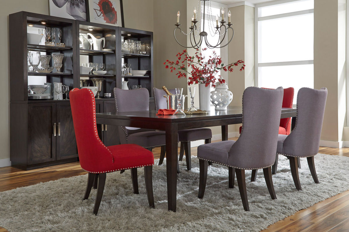 gardner white living room sets danish furniture vera dining set with 4 red side chairs at from