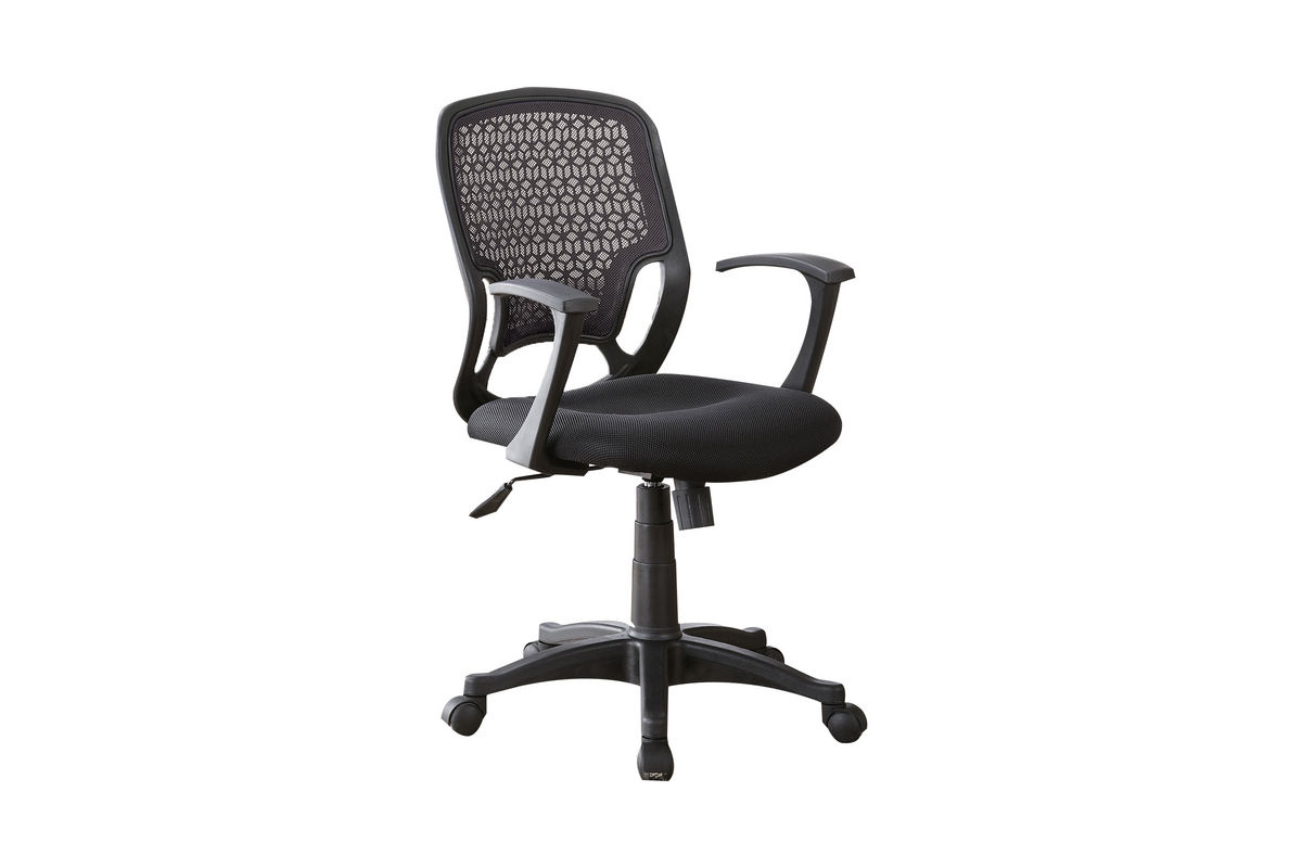 black mesh office chair heavy duty industrial chairs 800056 at gardner white