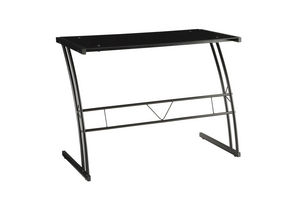 Dynasty Contemporary Desk in Brushed Stainless Steel and