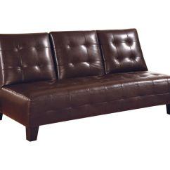 Armless White Leather Sofa Corner Sets Uk Brown Convertible Futon 300153 At Gardner