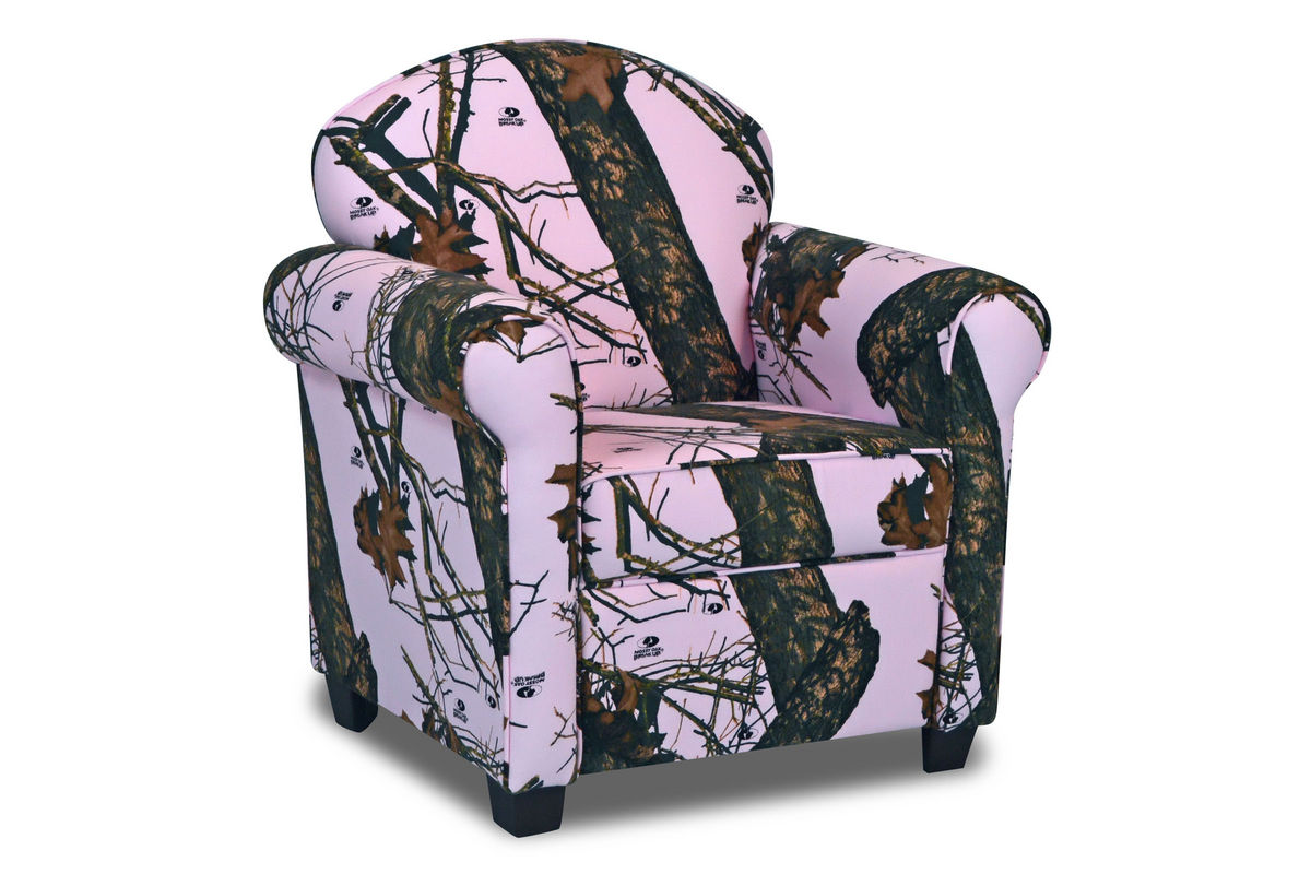 pink camo lawn chair gaming bean bag with speakers zippity kids jill mossy oak camouflage at