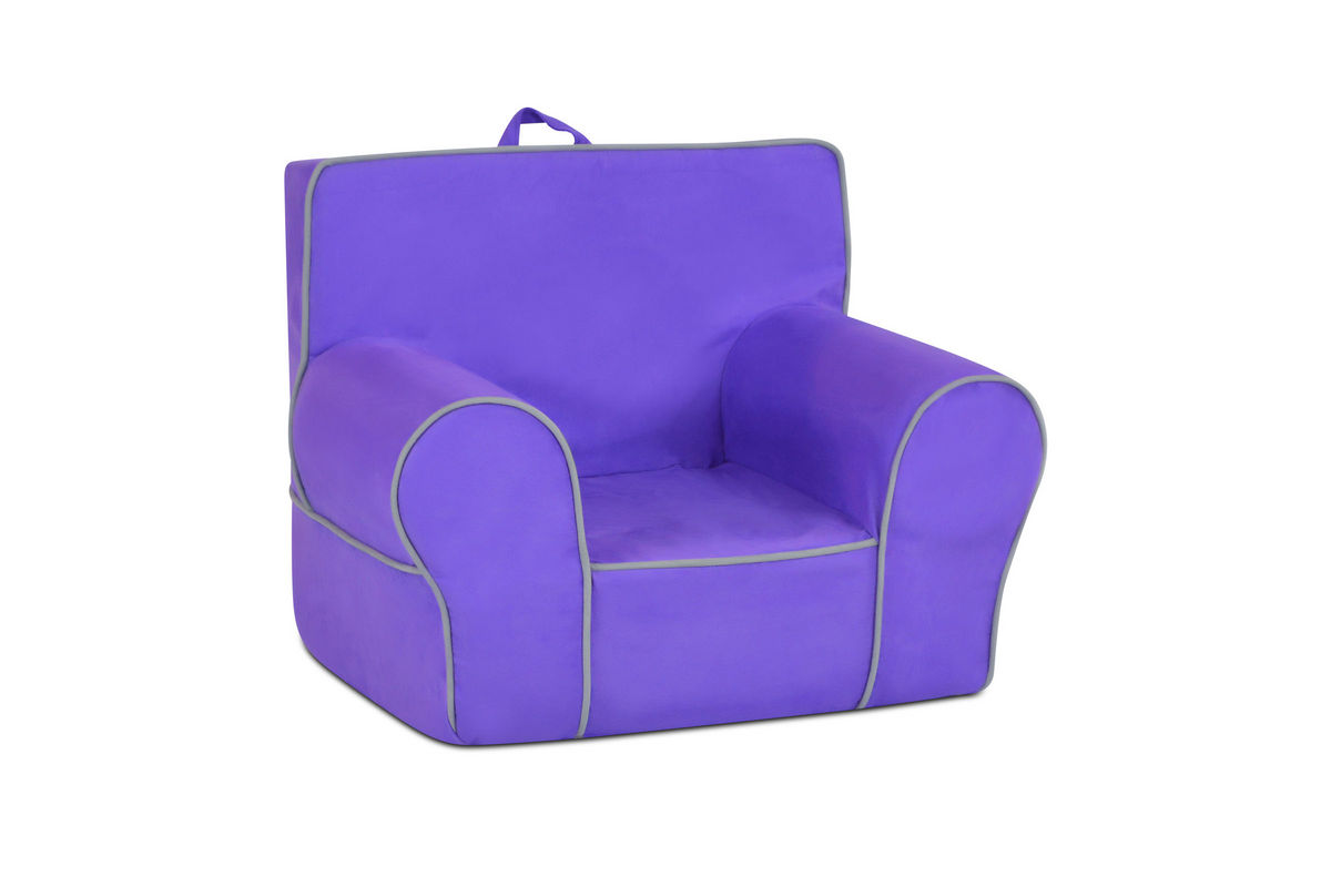 kids accent chair baby clips onto table zippity grab n go with handle perfectly plum
