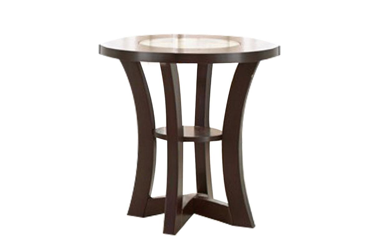 Round Espresso End Table at Gardner