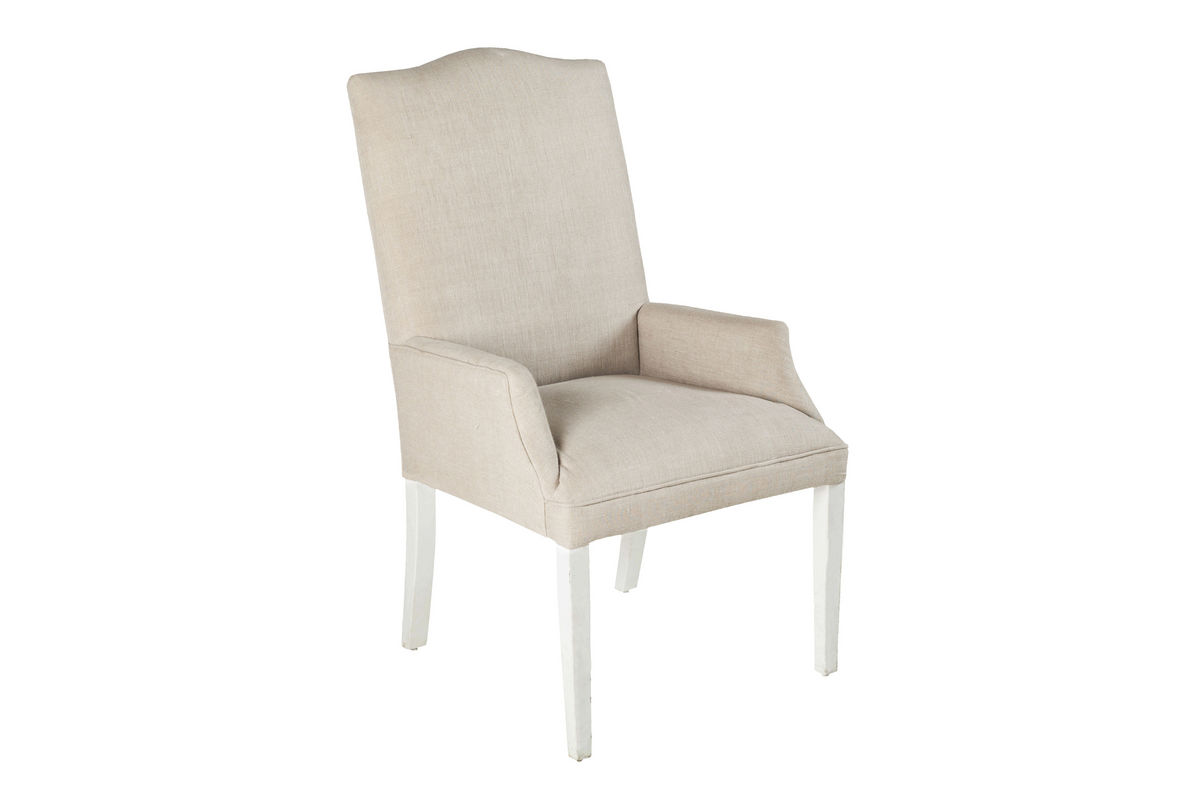 white linen chair round back covers armchair surya accent at gardner